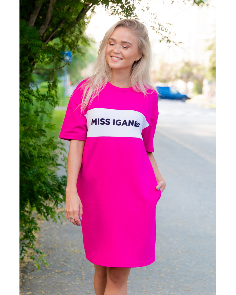MISS IGANES OVERSIZE FUCHSIA DRESS