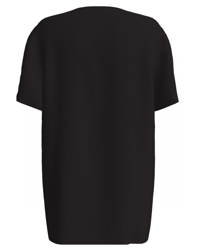 ABSTRACT FACE BLACK PRINT T-SHIRT