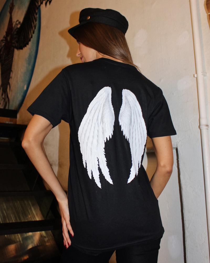 BLACK ANGEL UNISEX PRINT T SHIRT