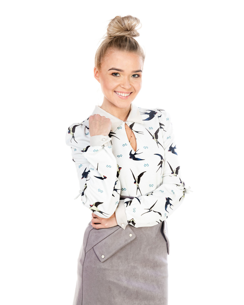 IVORY SWIFTS ALICE BLOUSE