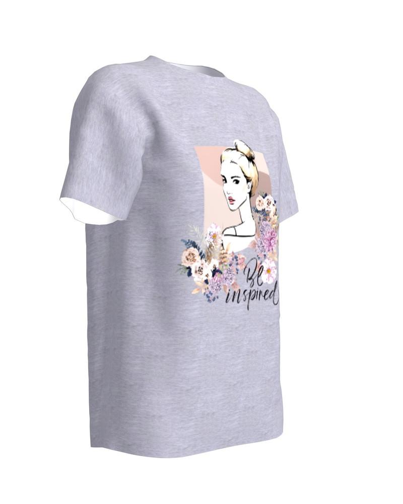 Be Inspired T-Shirt Light Grey