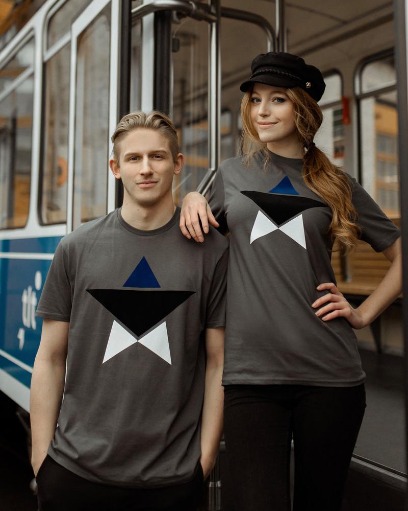 MENS ESTONIAN STAR T-SHIRT GREY