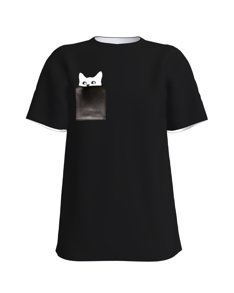 KITTY UNISEX T-SHIRT BLACK