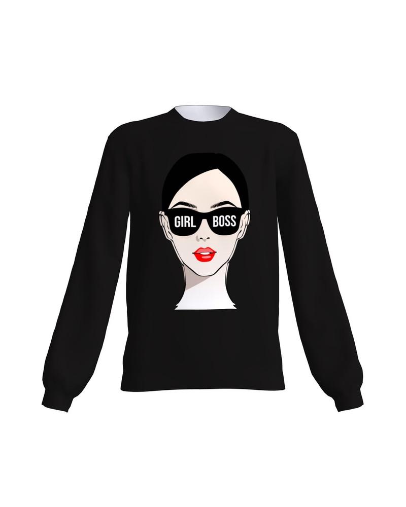 Girl Boss Sweater Black