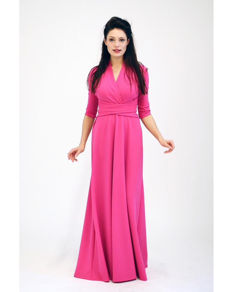 FUCHSIA MAXI ELEGANT DRESS