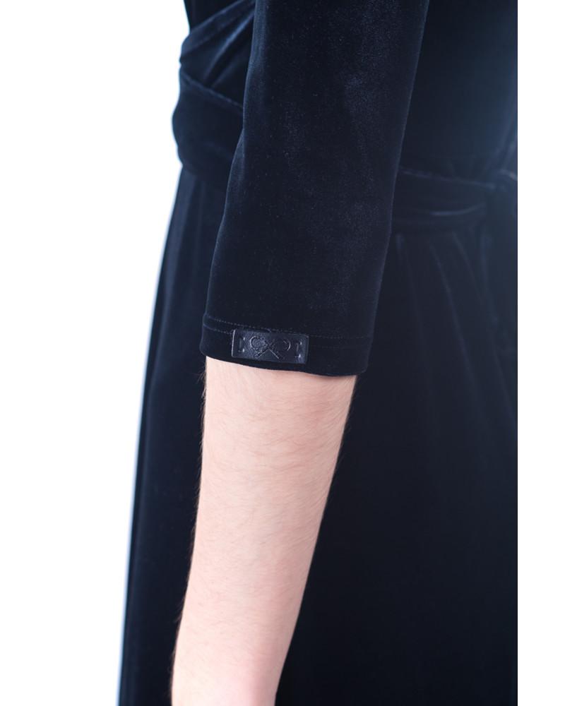 BLACK ELEGANT VELVET MAXI DRESS
