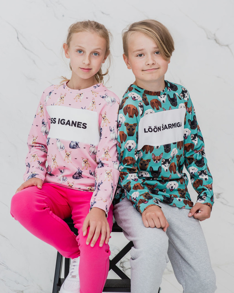 MISS IGANES PINK BULLDOGS KIDS SWEATER