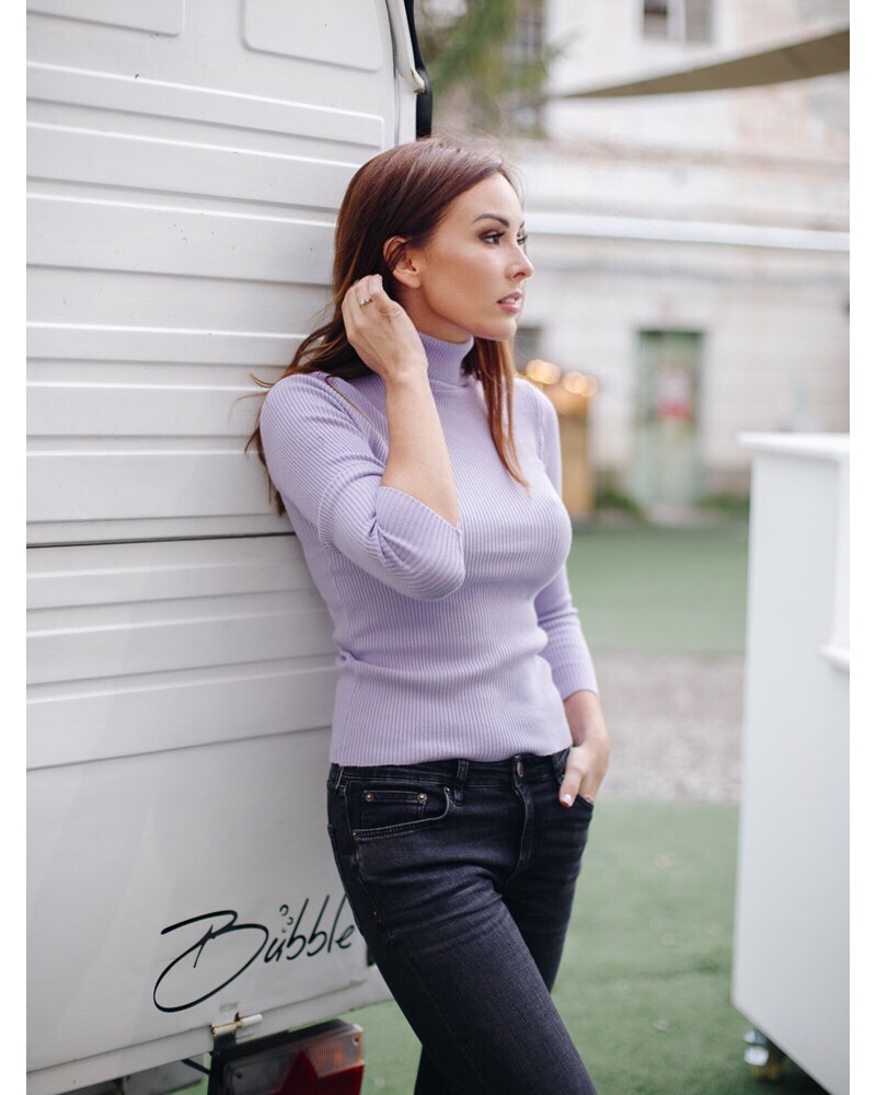 KNIT PULLOVER LILAC