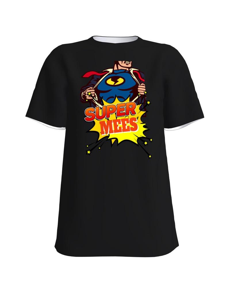 SUPER MEES UNISEX T-SHIRT BLACK