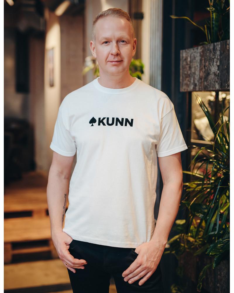 KUNN WHITE PRINT T-SHIRT