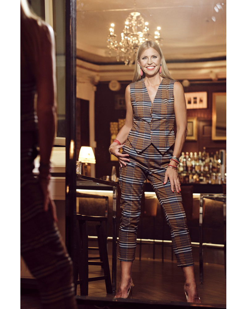 BROWN STRIPED TROUSERS