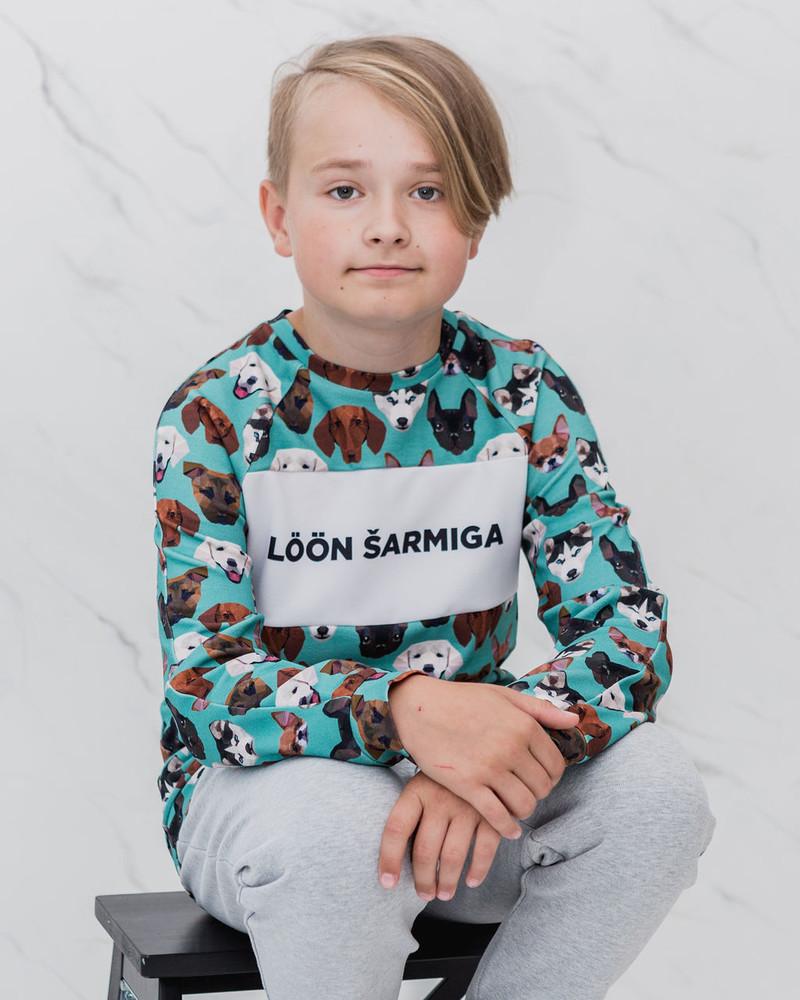 LÖÖN ŠARMIGA KIDS SWEATSHIRT GREEN PETS
