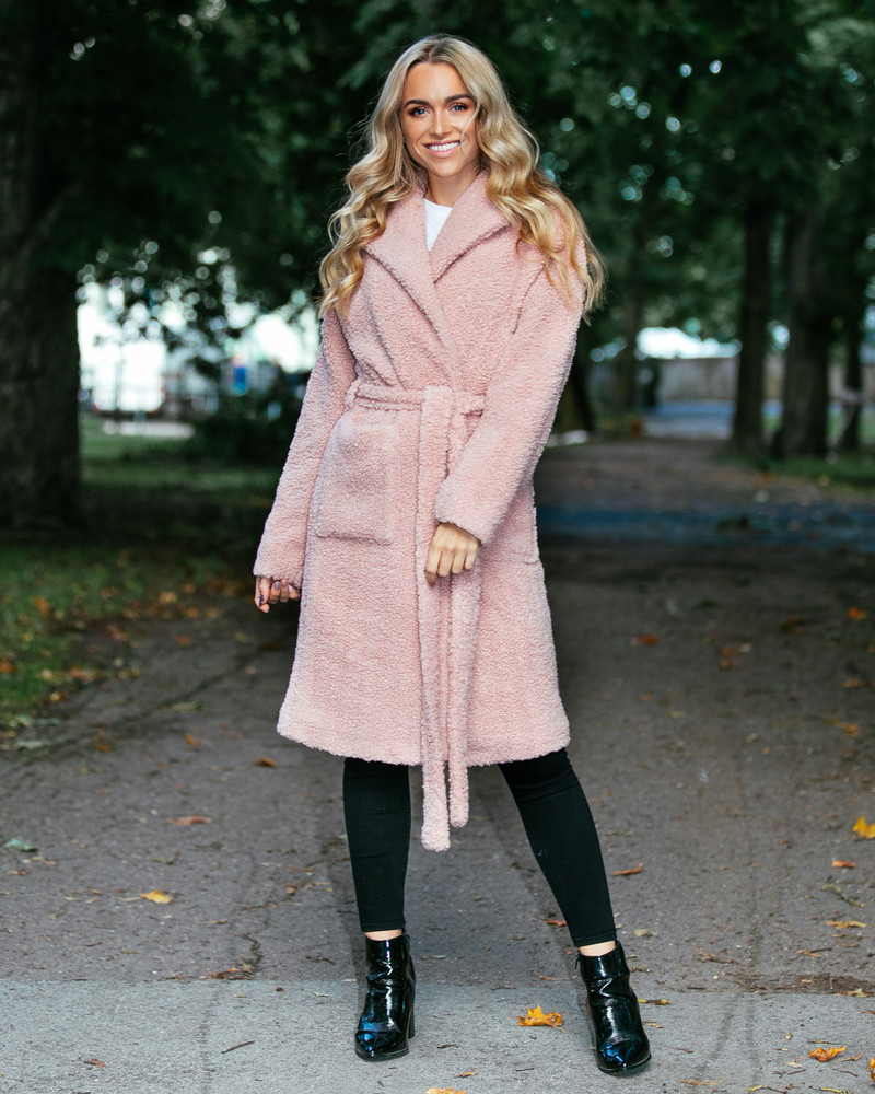PASTEL PINK FURRY DREAMY COAT