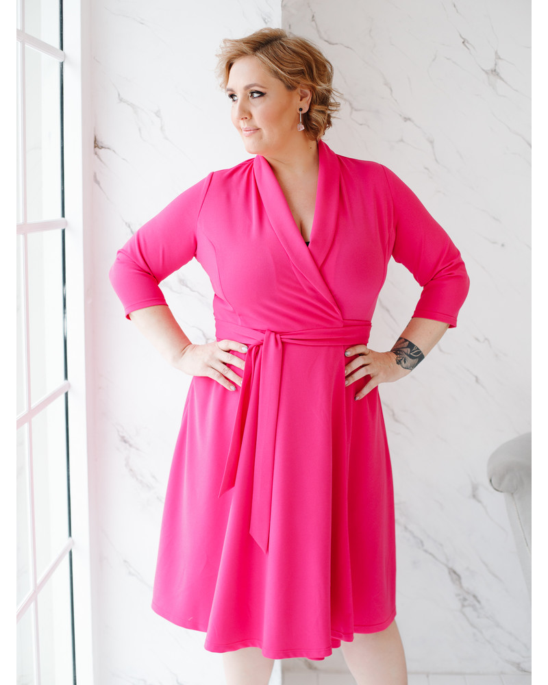 MOON MIDI DRESS FUCHSIA