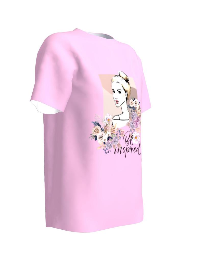 Be Inspired T-Shirt Light Pink