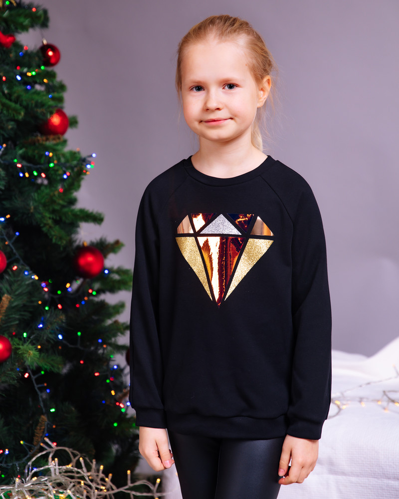 DIAMOND KIDS SWEATSHIRT BLACK