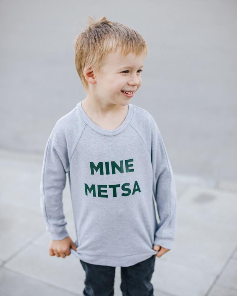 MINE METSA KIDS SWEATSHIRT LIGHT GREY