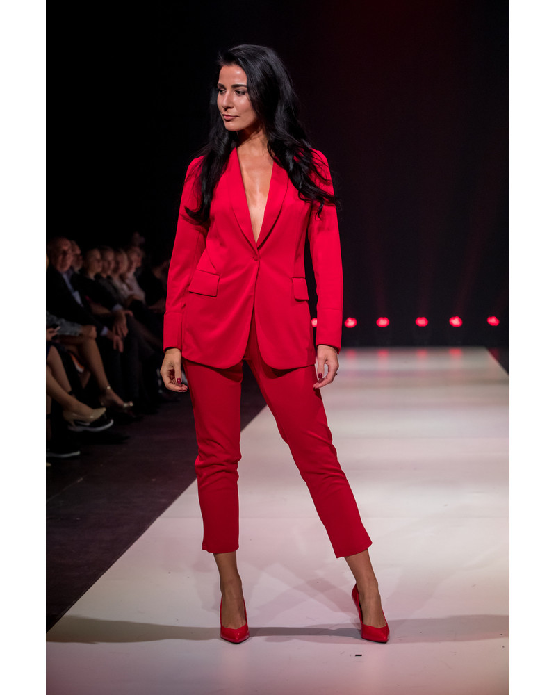 SKINNY TROUSERS RED
