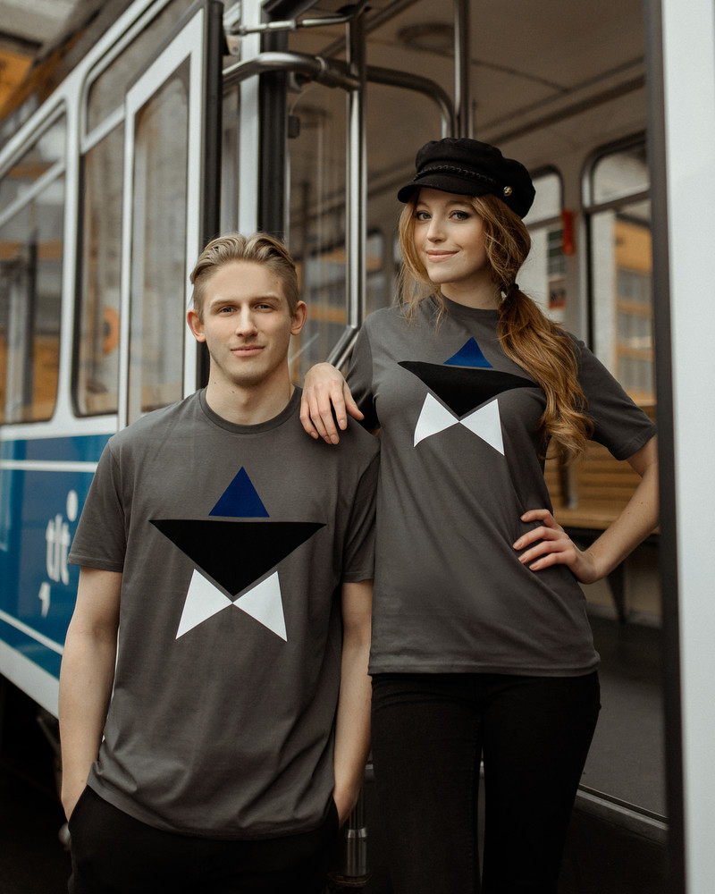 ESTONIAN STAR T-SHIRT GREY