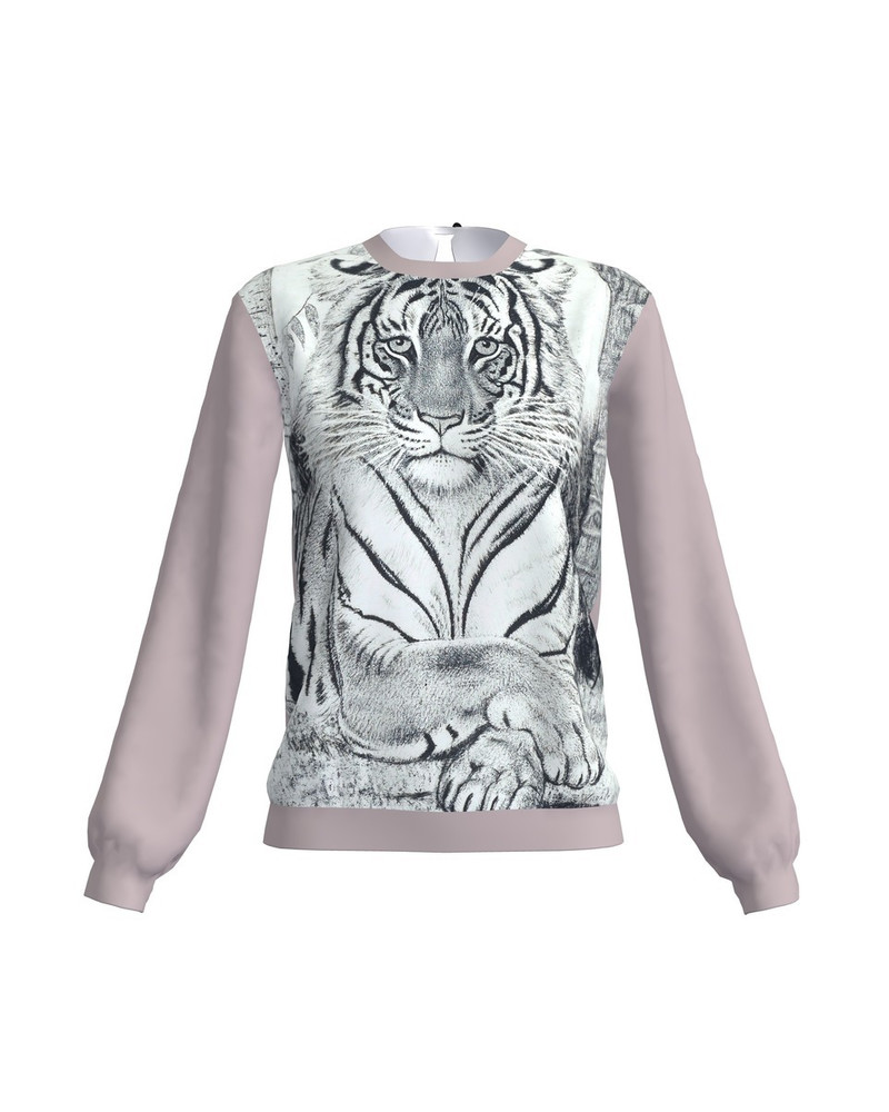 SLEEPING TIGER GREY SWEATER