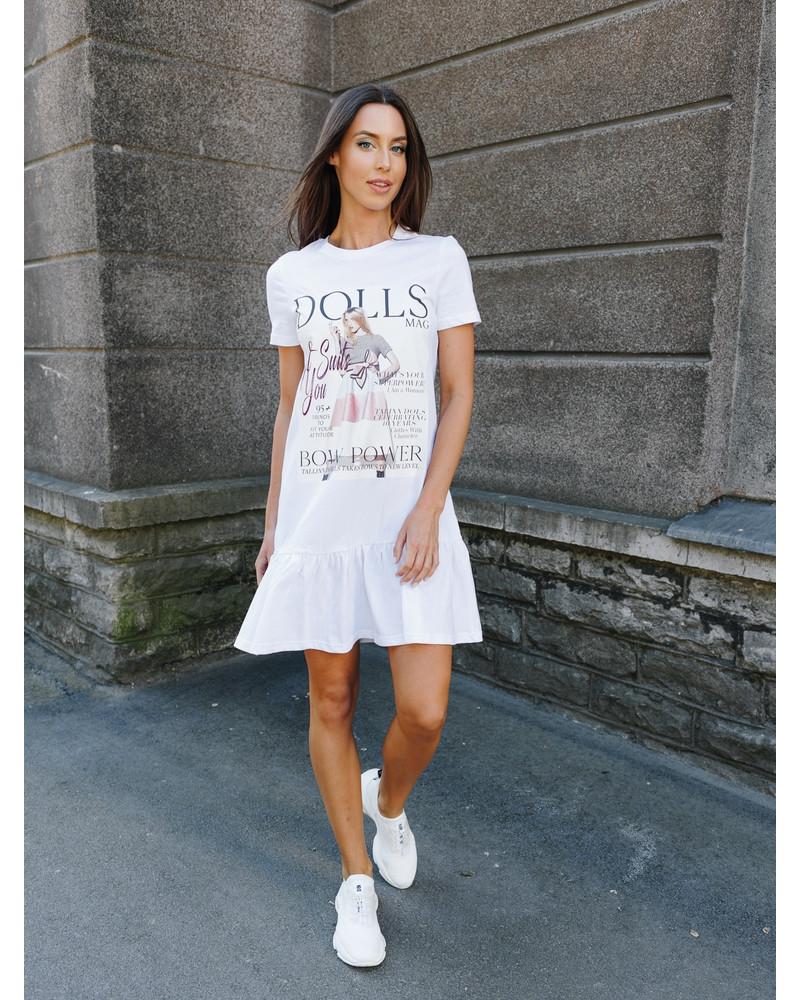 DOLLS MAGAZINE FRILL DRESS WHITE