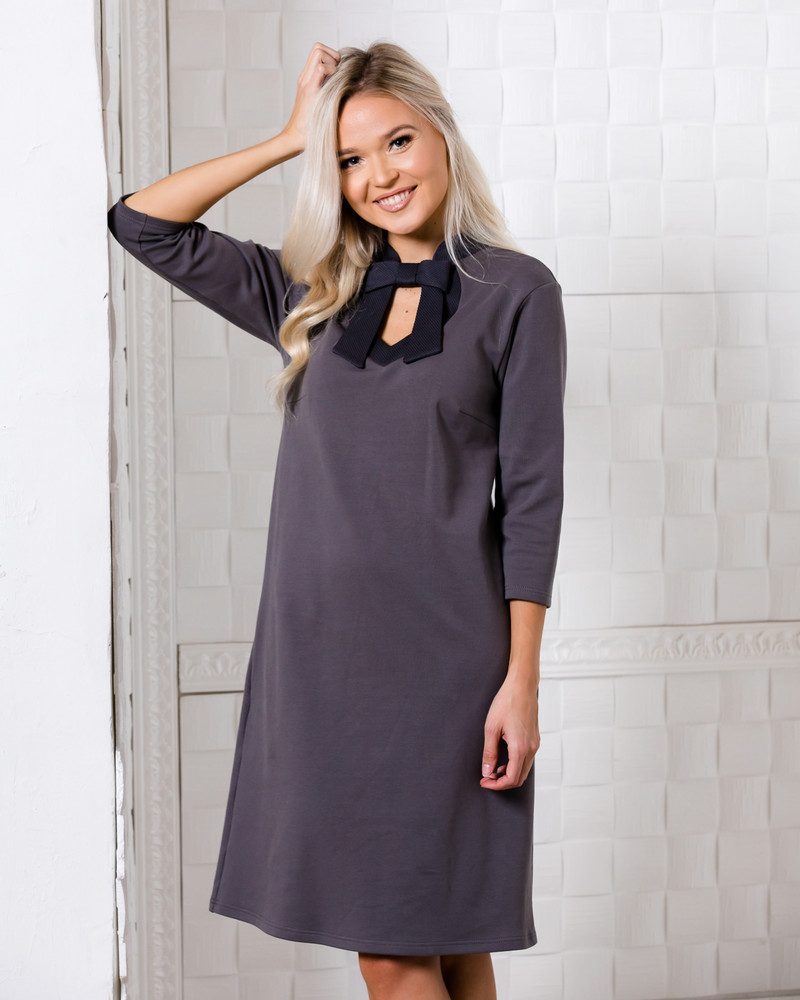DOLLABLE SWEATSHIRT DRESS DARK GREY