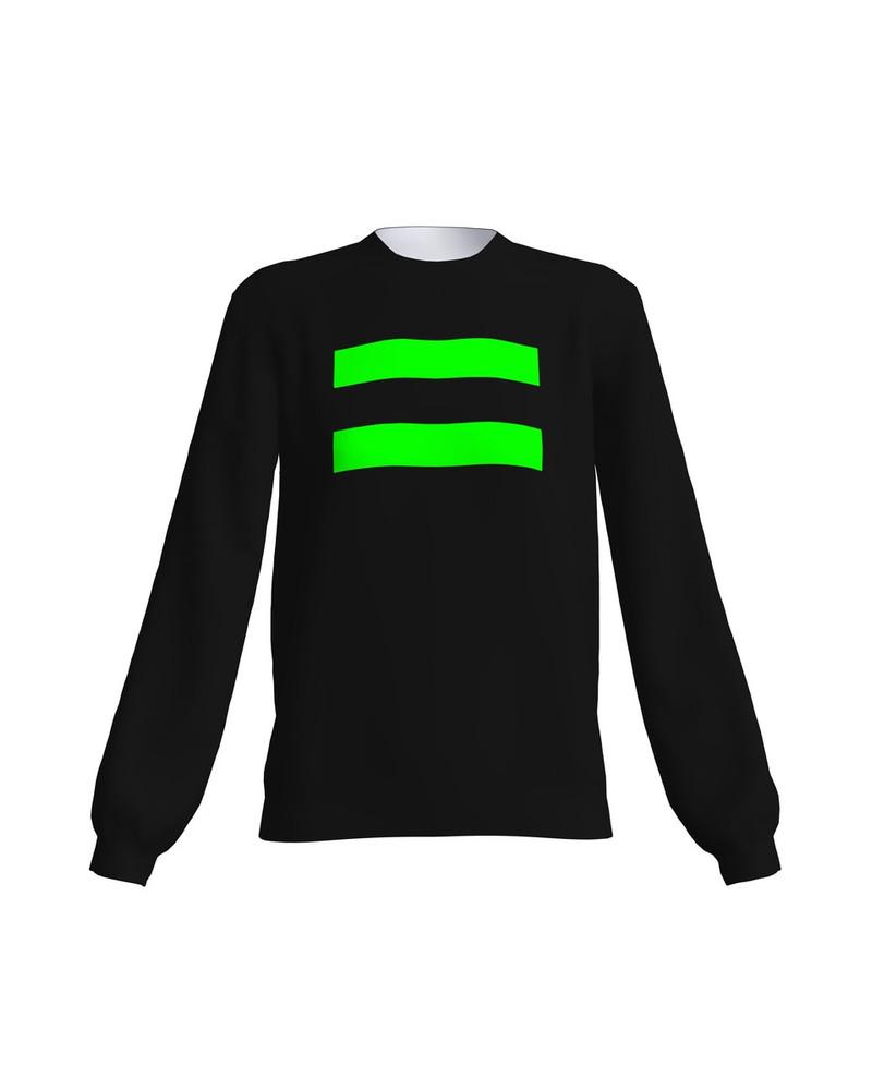 BLACK GREEN NEON EQUAL SWEATER