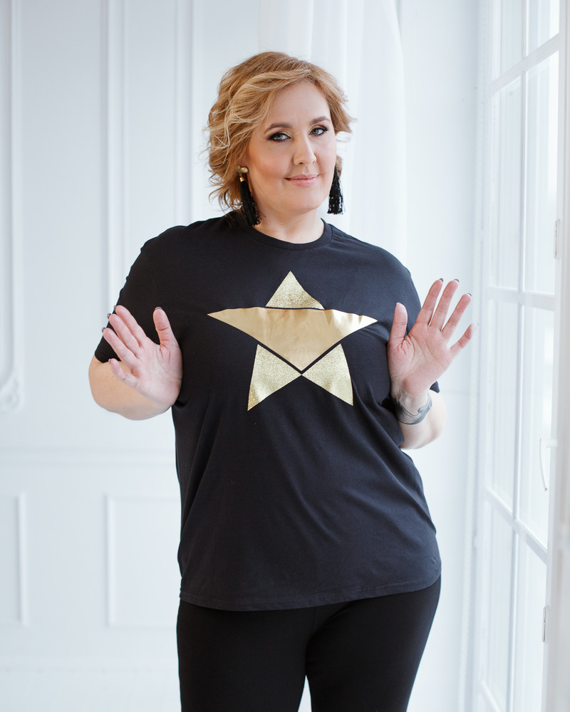 GOLD STAR T-SHIRT BLACK