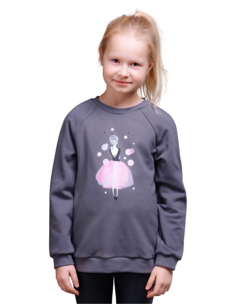 PINK GIRL  KIDS SWEATSHIRT GREY