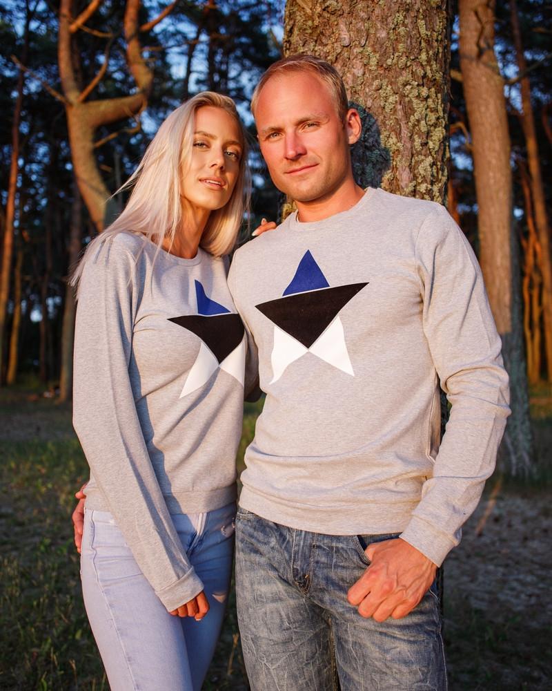 ESTONIA STAR SWEATSHIRT GREY
