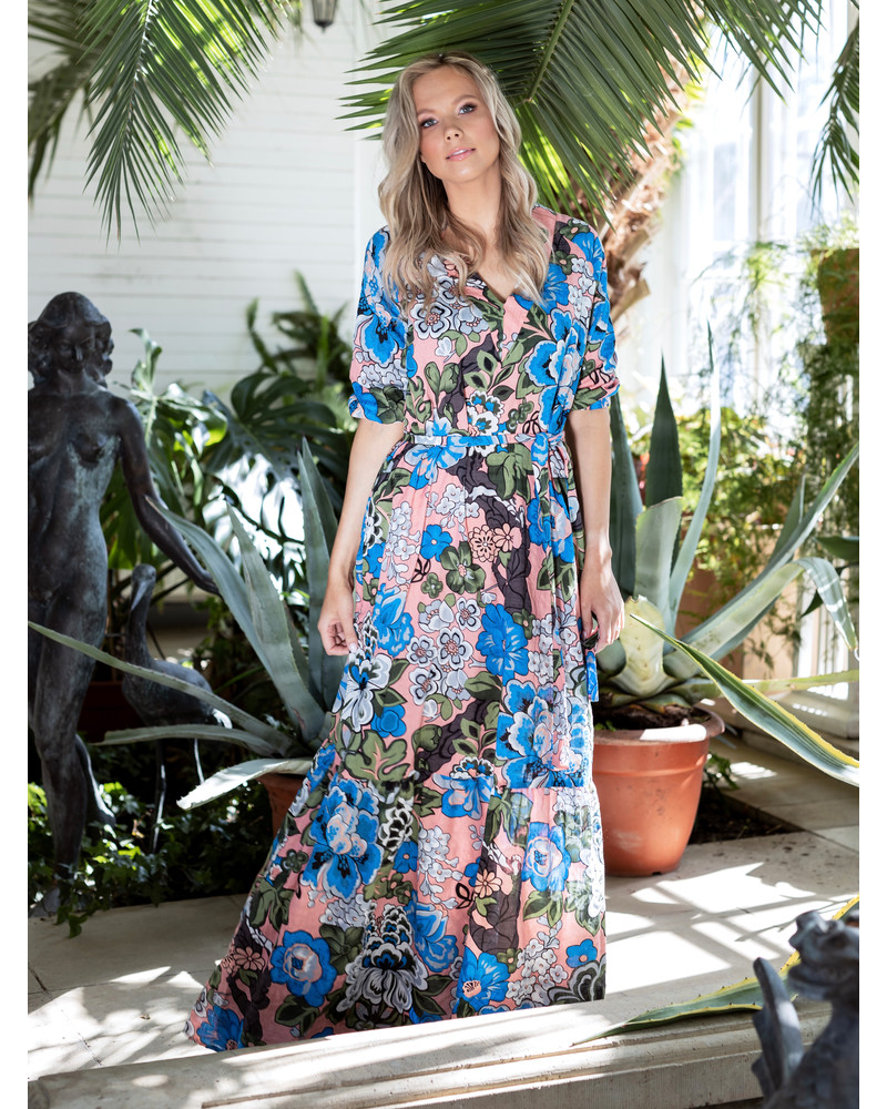 COMET MAXI DRESS MAGIC FLOWERS