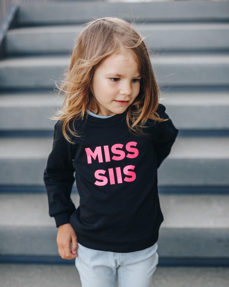 MISS SIIS KIDS SWEASHIRT BLACK