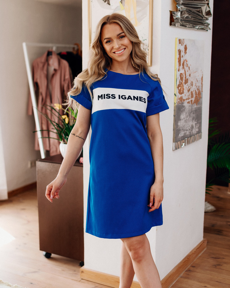MISS IGANES BLUE PEARL DRESS
