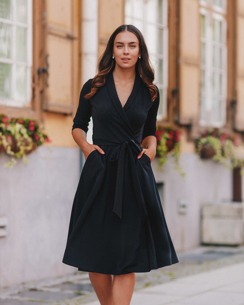 BLACK MOON MIDI DRESS