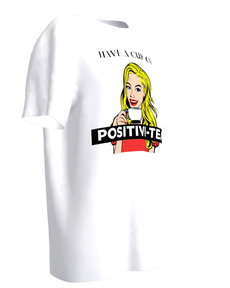 POSITIVI-TEA WHITE T-SHIRT