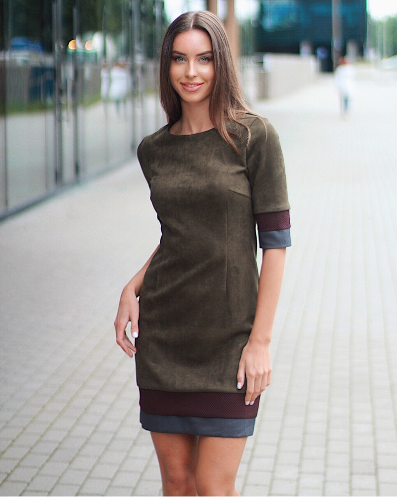 GREEN AUTUMN LAYERCAKE DRESS