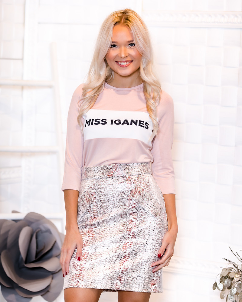 MISS IGANES NUDE QUARTER SWEATER