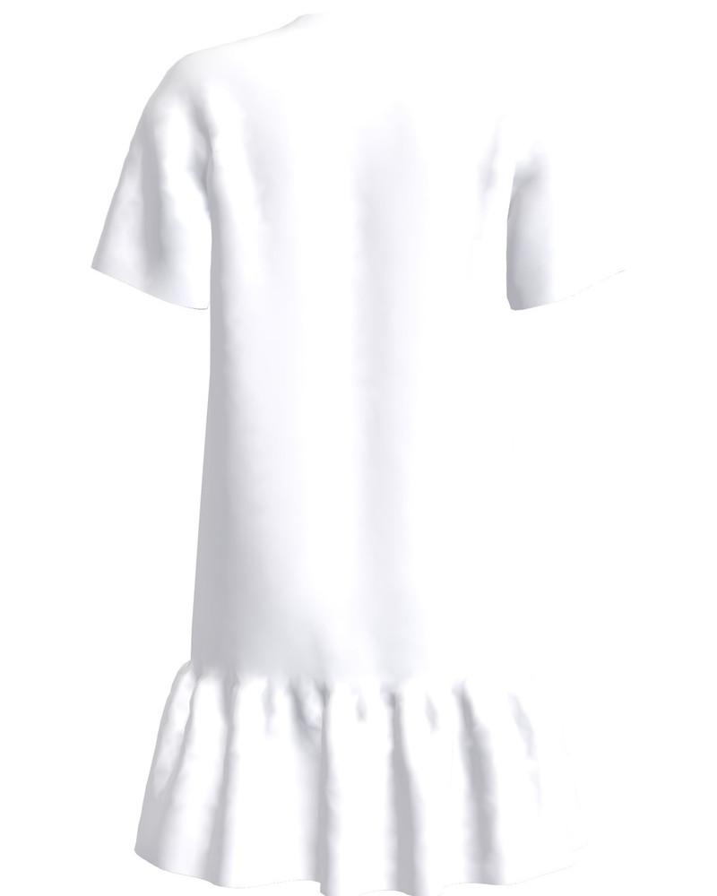 GIANT BUTTERFLIES FRILL DRESS WHITE