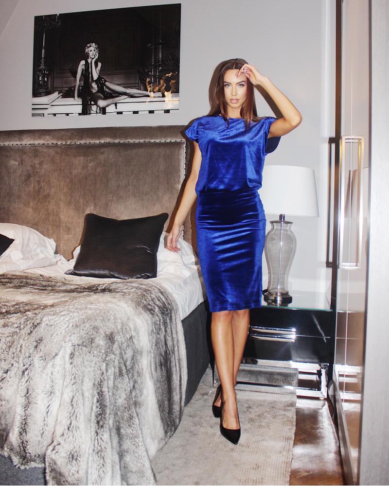 MERMAID DRESS BLUE VELVET