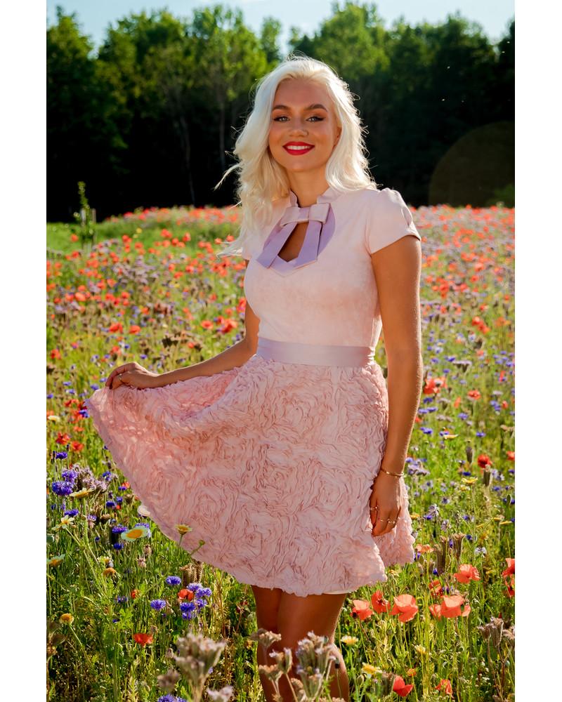 DOLLABLE DRESS FLOWER PEACHY