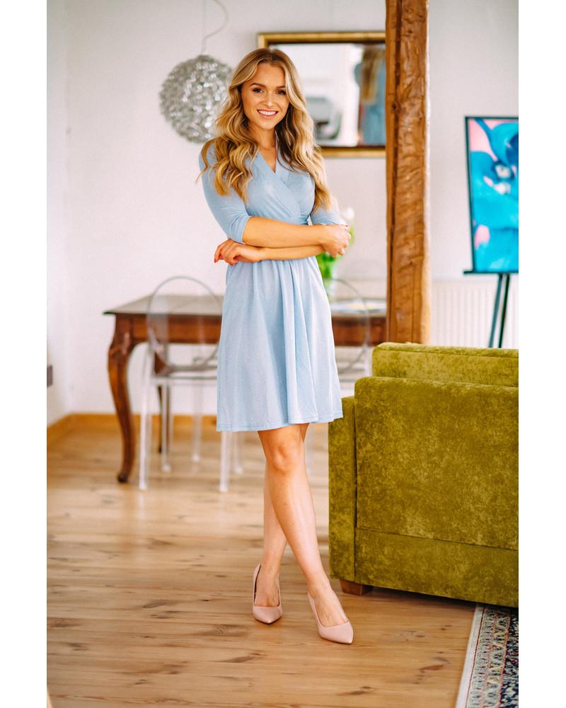 BLUE SPARKLING ELEGANT DRESS