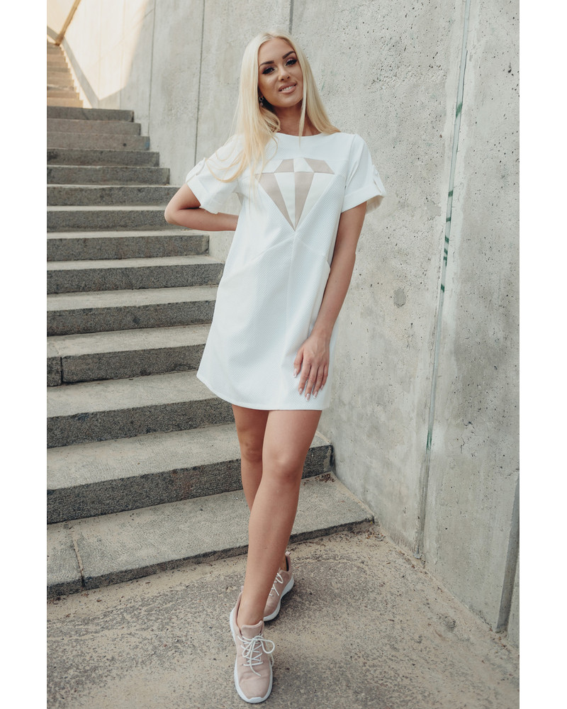 WHITE DIAMOND PEARL DRESS