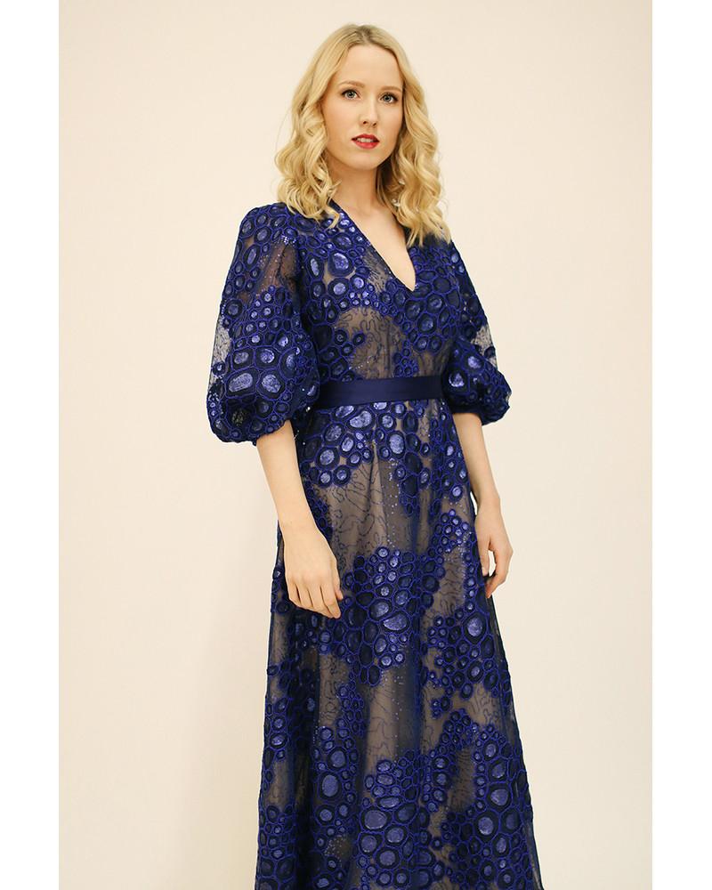 OLIVIA MAXI DRESS BLUE