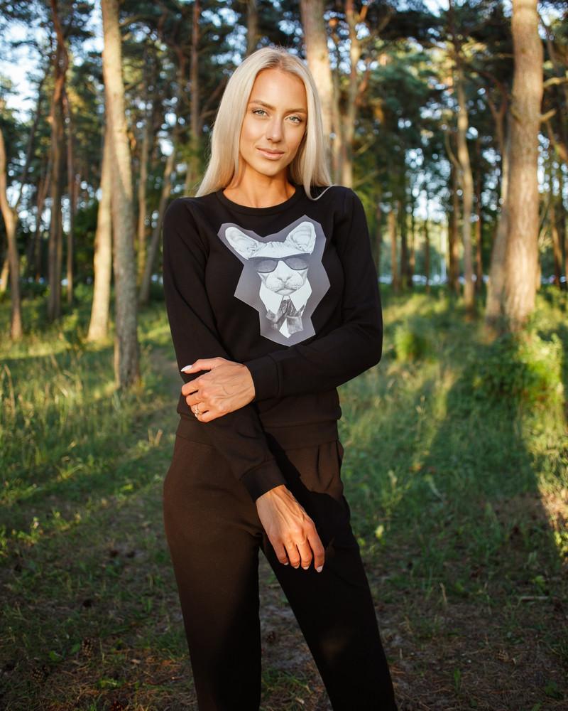 MAFFIA CAT SWEATSHIRT BLACK