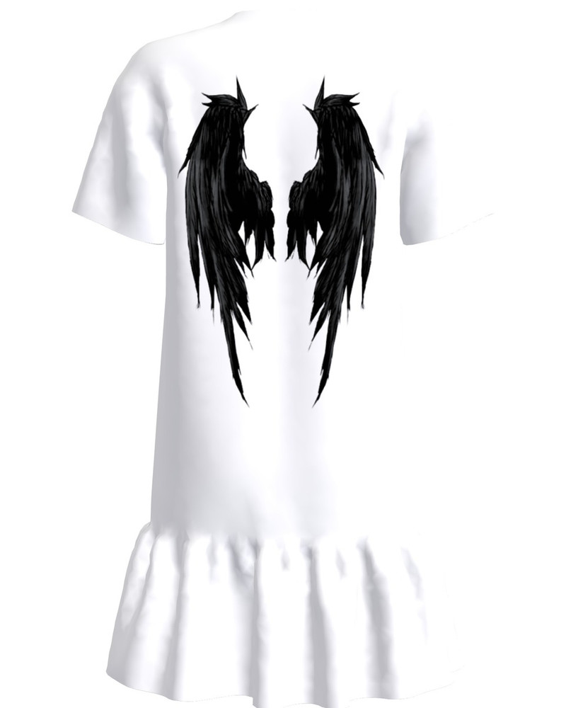 ANGEL FRILL DRESS WHITE