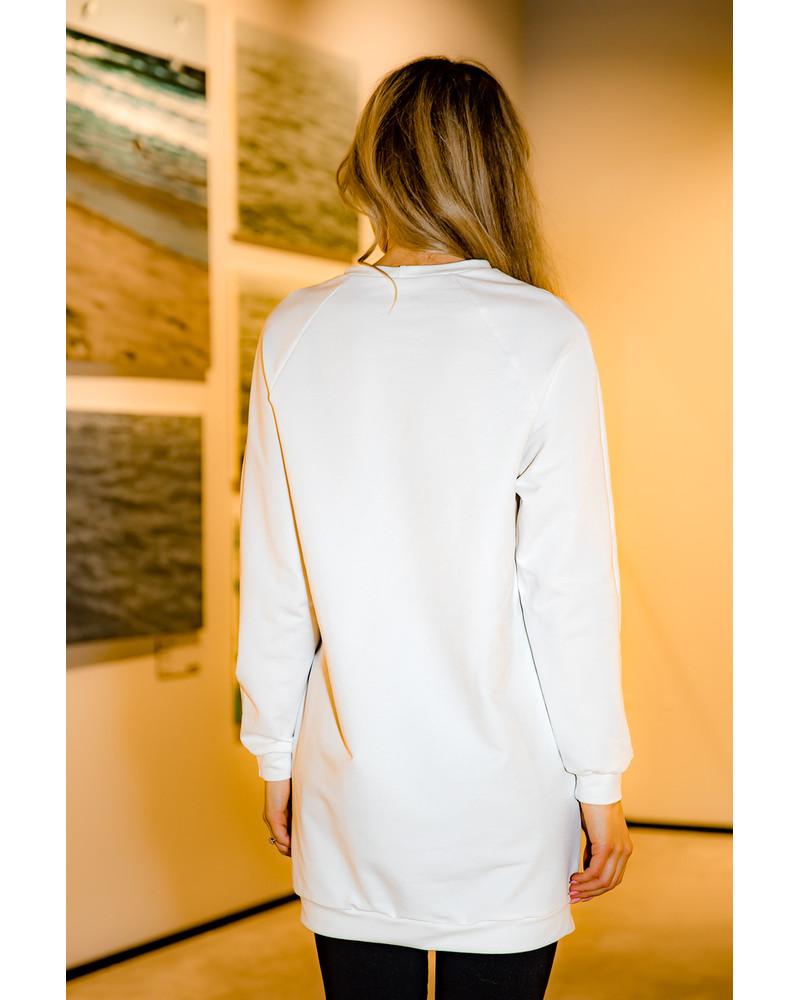 POP OF COLOR SWEATER DRESS