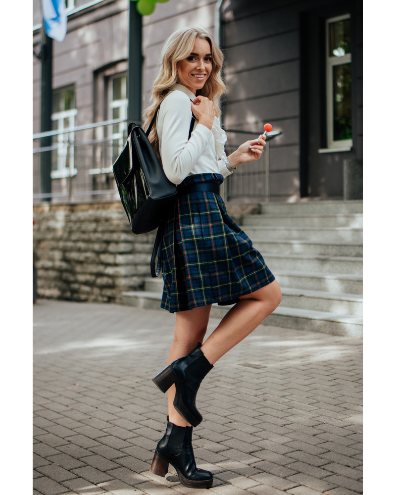 TEDDY SQUARE BOW SKIRT