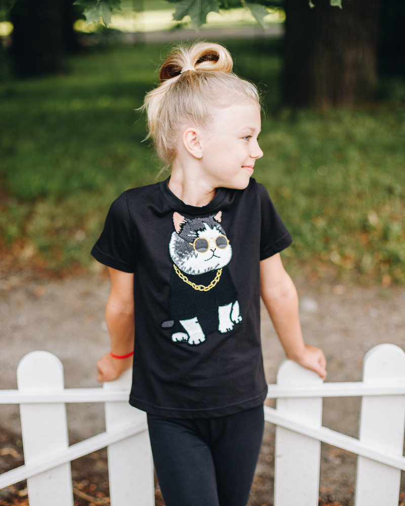 COOL CAT KIDS T-SHIRT BLACK