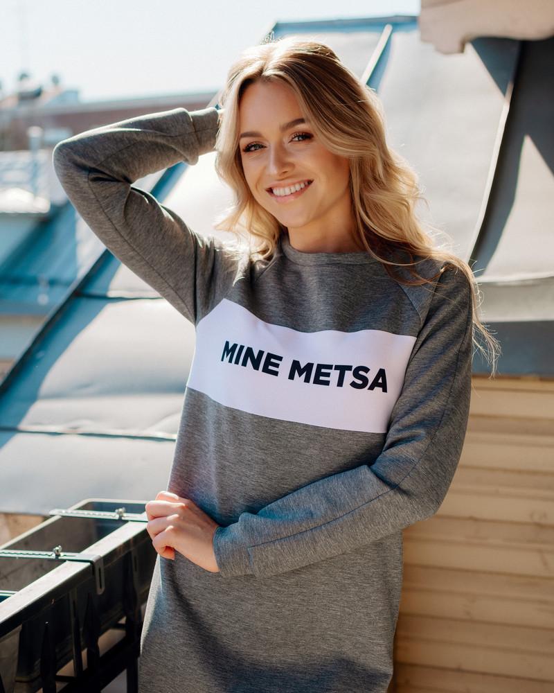 MINE METSA GREY SWEATER DRESS