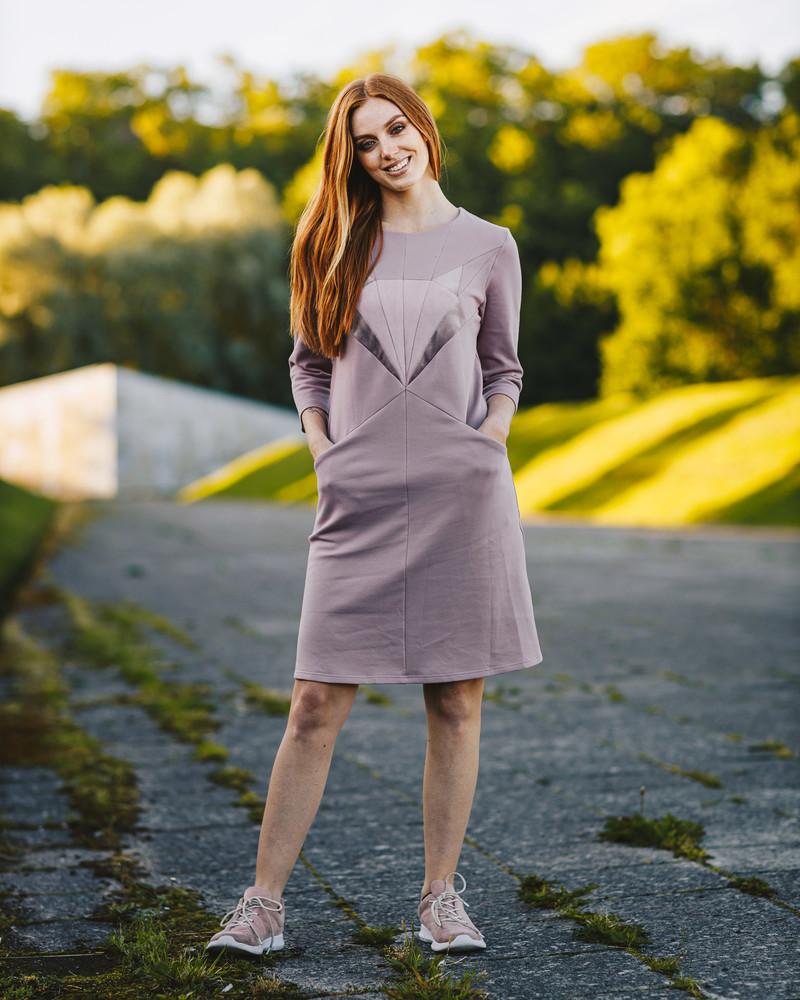 LILAC FOX SWEATER DRESS